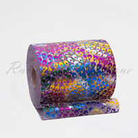 """Tutu Tulle Rolls 6"""" x 100 yards Peacock patterned Polyester Netting Craft Fabric"""