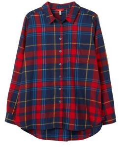 Joules-Lorena-Shirt-Red-Check