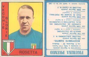 VIOLA VECCHIE GLORIE FIGURINA CALCIATORI PANINI 1962//63
