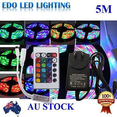 Waterproof 300 LEDS RGB 5M 3528 SMD LED Strip Light 12V + IR Controller+Driver