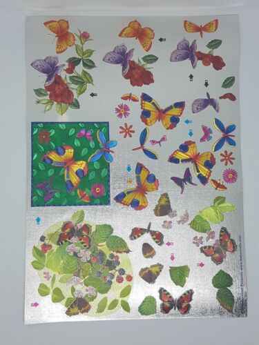 Various /'DUFEX/'  Metallic Decoupage Card Making Sheets A4