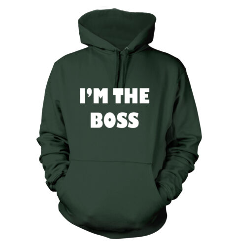 Funny Humor Idiots Manager Supervisor Men/'s Hoodie I/'m the Boss #60