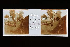Serbia Targa Di Vetro Stereo 1920
