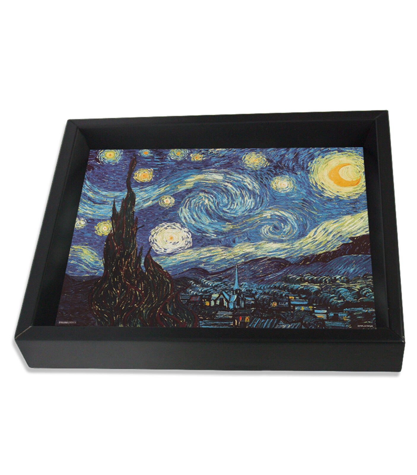 6597.Painting.Van Gogh/'s starry starry night.stars.village.POSTER.art wall decor