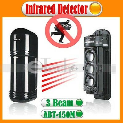2 Beams Photoelectric Infrared Detector ABT-30m Alarm Home Security System NEW
