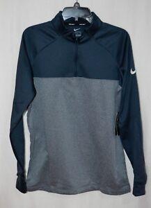 77a45722 Nike Men's Therma Core Obsidian Blue/Grey Half Zip Golf Top (854498 ...