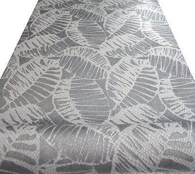 5731-29: 1 Vlies Tapete silber altweiss Blätter floral von Erismann POSTEN