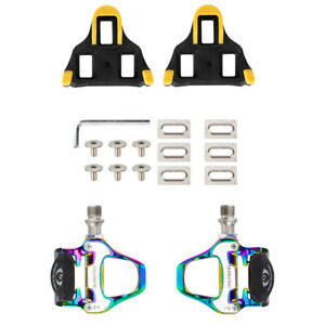 Road-Bike-Clipless-Bicycle-Self-locking-Pedals-With-SPD-SL-Cleats-Accessories