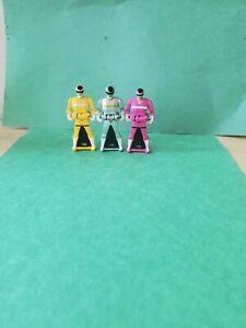 Power Rangers Super Megaforce Keys 3-Pack In Space Yellow, Pink, Silver