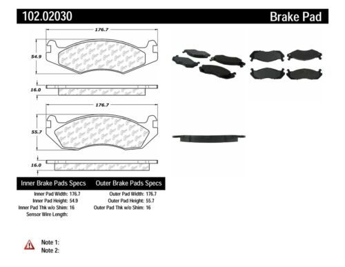 Disc Brake Pad Set-C-TEK Metallic Brake Pads Front Centric 102.02030