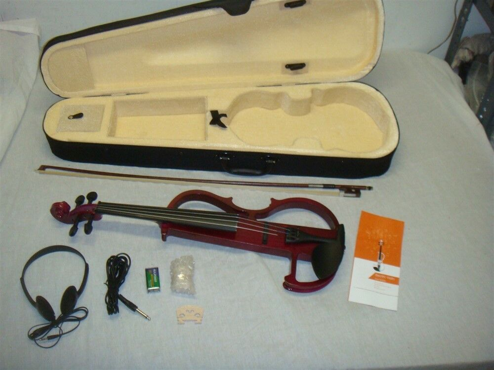 AMMOON VE-207 FULL Größe 4 4 SILENT ELECRIC VIOLIN WITH CASE BOW