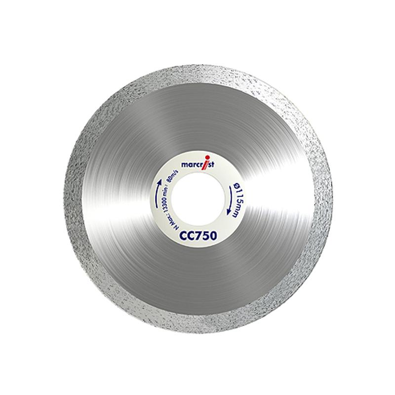 Marcrist Cc750 Kachel und Steinfarben Kurve Schneidmesser (115mm X 22.2mm)