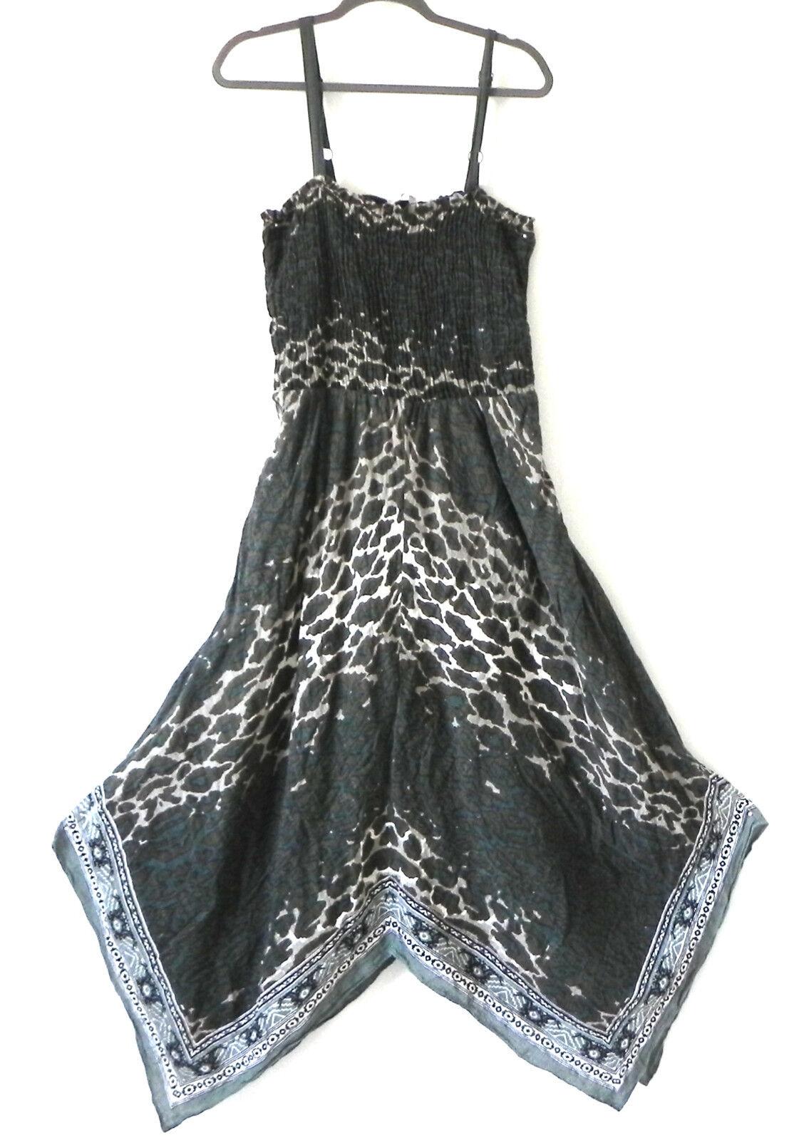 Soft Surroundings Dress Tube Top Removable Strap Asymmetrical Cotton Size XL