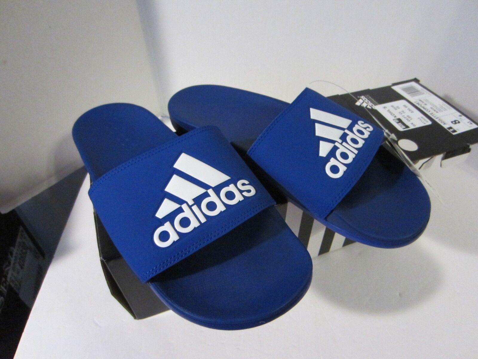 adidas Adilette Cloudfoam Plus Men's Collegiate Royal/White AC8328