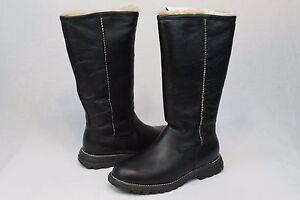 Ugg Australia Brooks Tall Leather Sheepskin Black Boot