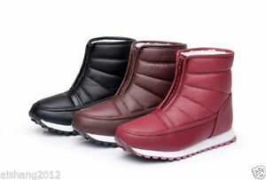 New Womens Winter Snow Warm Waterproof Boots Shoes Ankle Boots