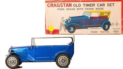Sonderabschnitt Vintage Japanisch Cragstan Alte Timer Ford Touring Sedan Mit Kurbel Geräusch & Wir Nehmen Kunden Als Unsere GöTter Autos & Lkw Blechspielzeug