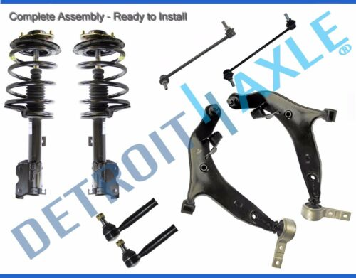 for 2004-2009 Nissan Quest Front Strut Lower Control Arm Outer Tie Rod Sway Bars