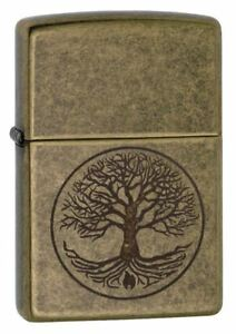 Zippo-Regular-Tree-of-Life-Antique-Windproof-Refillable-Cigarette-Petrol-Lighter
