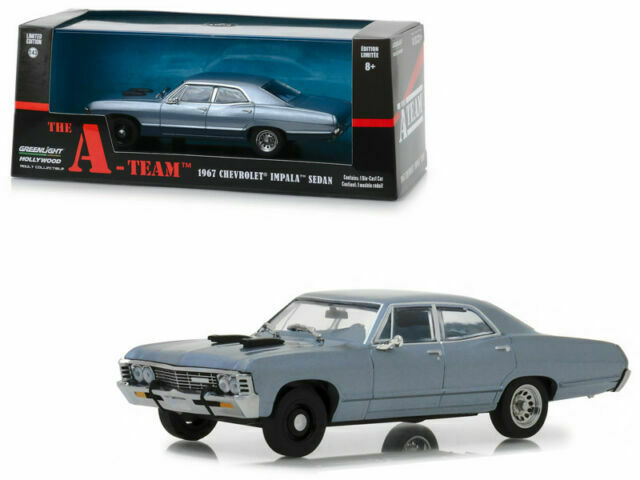 1967 Chevrolet Impala sport sedan the A-Team TV serie 1:43 GreenLight 86527