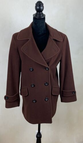 Vintage Lee Lipton Brown Double Breasted Coat.