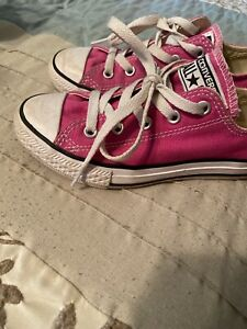 Girls Pink Converse Size 13 Great