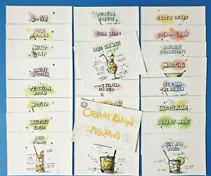 Set-of-25-NEW-Cocktail-Recipe-Postcards-in-Pack-with-Face-Card-BV4