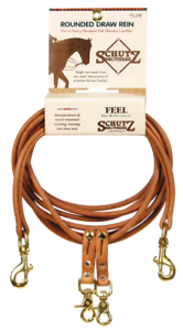 SCHUTZ BredHERS ROUNDED HARNESS LEATHER DRAW REINS 7LDR