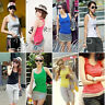 Hot sexy Women's Lady Casual Vest Tank Tops Sleeveless Cami Blouse T-Shirt BS