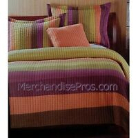 2 Pc Multi-colored Kenar 100% Cotton Quilt With Standard Sham Twin