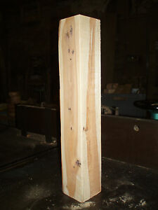 """English Yew wood turning spindle blanks.  50mm (2"""") square"""