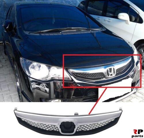 Pour Honda Civic Fd 05-11 Nouveau Pare-Chocs Avant Centre Calandre Chrome EXTERIEUR