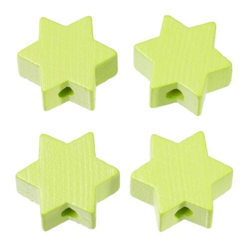 4 Stück Schnulli Schnullerketten Stern lemon 19,5*19,5*8 mm DL 3 mm  St// 0,80 €