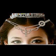 Haarschmuck Kopfschmuck Strass Stirnkette Tikka Bollywood Kopfkette Haarband