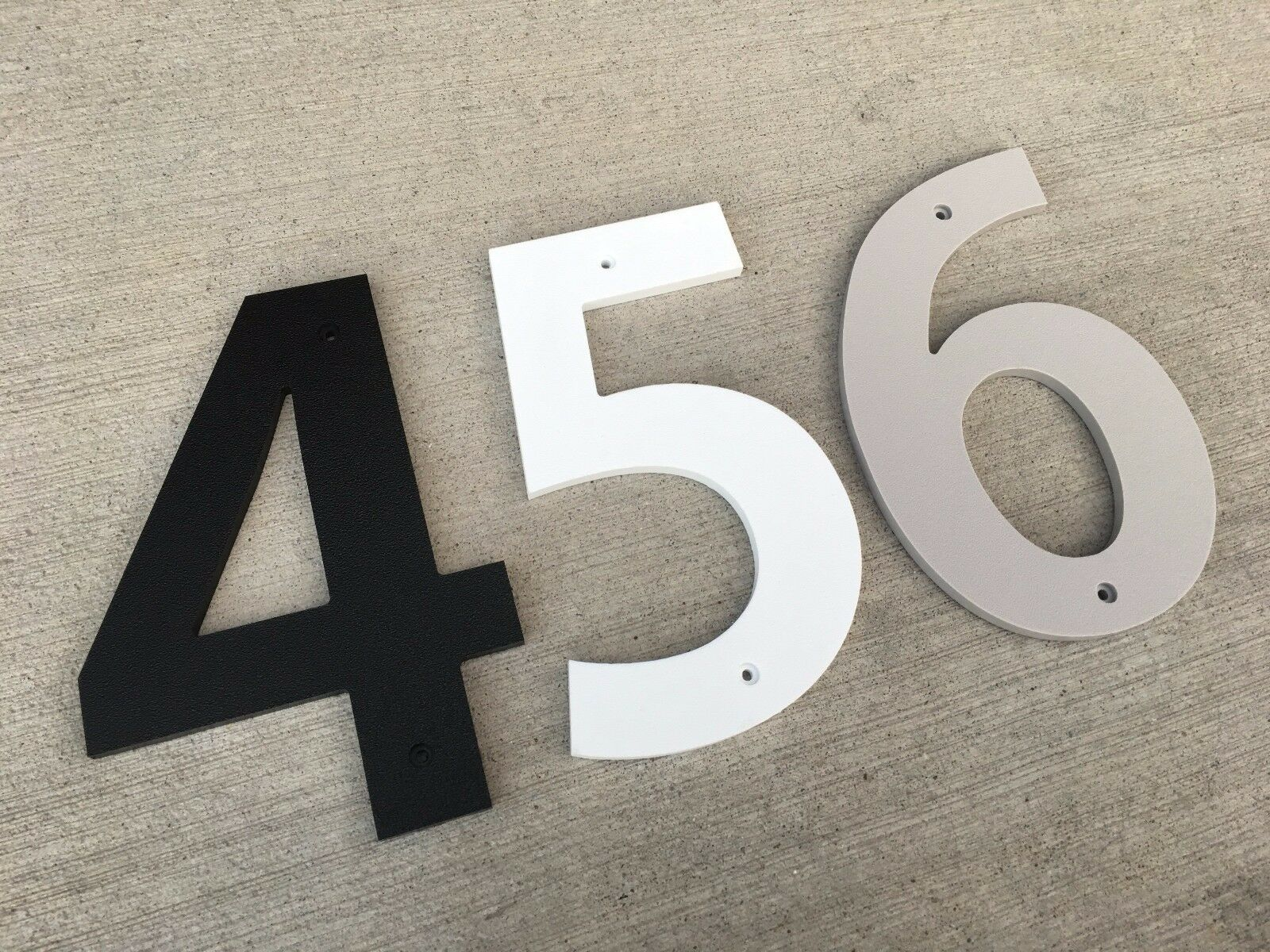 4 inch Bold house numbers letters; color choices