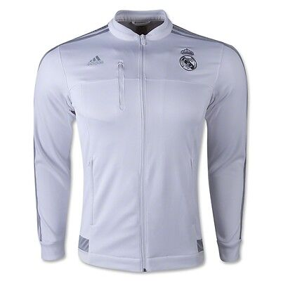 2015 2016 Real Madrid Adidas Windbreaker Jacket (Grey)