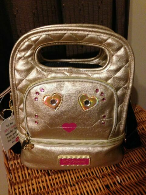 Betsey Johnson Insulated Lunch Travel Work Tote Purse Bag Box Snack Case Cooler
