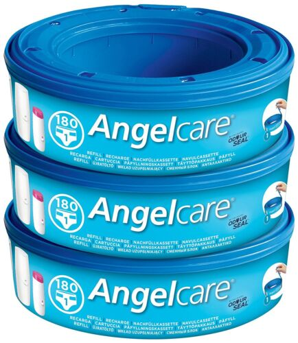 Pack of 3 Angelcare Nappy Disposal System Refill Cassettes