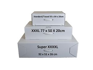Wedding dress storage airline travel boxes 3 sizes acid for Acid free cardboard box for wedding dress