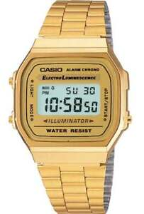 CASIO-WATCH-80-039-S-RETRO-VINTAGE-A168WG-9-ALARM-STOPWATCH-EL-LIGHT