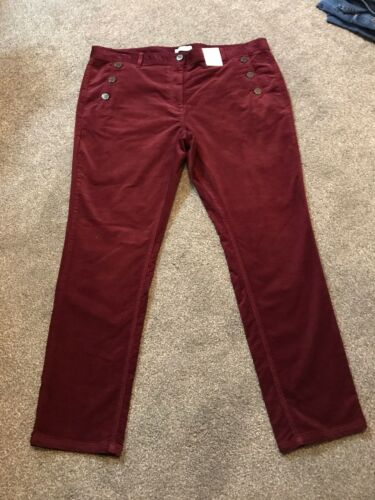 Per Una Roma Rise Slim Cord Trouser Pants Size 20 Regular  BNWT Free Sameday P/&p