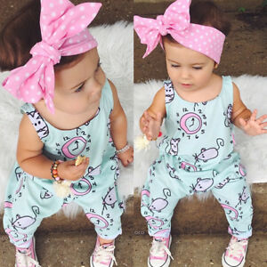 438283ff5d1a Image is loading USA-Summer-Newborn-Baby-Girls-Romper-Bodysuit-Jumpsuit-