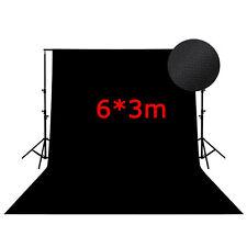 BD36B 6m*3m Photography Studio black backdrop background 600cm*300cm Backdrops