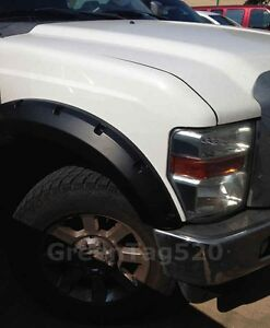FENDER FLARES POCKET RIVET STYLE NEW 08-10 FORD F250 350