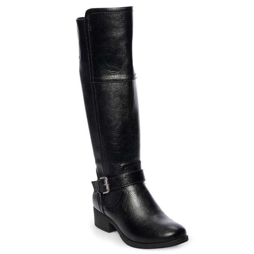 Croft & Barrow amplia para para para Mujer Alto Pantorrilla Bota de Montar Rodilla Alto Ancho Negro 9 Med  muchas concesiones
