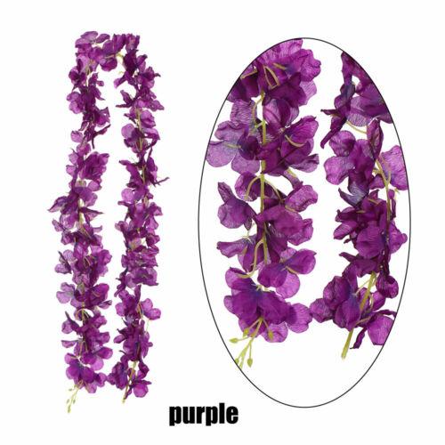 120cm Long Floral Garland Wreath Artificial Flower Wisteria Vine Rattan Flowers