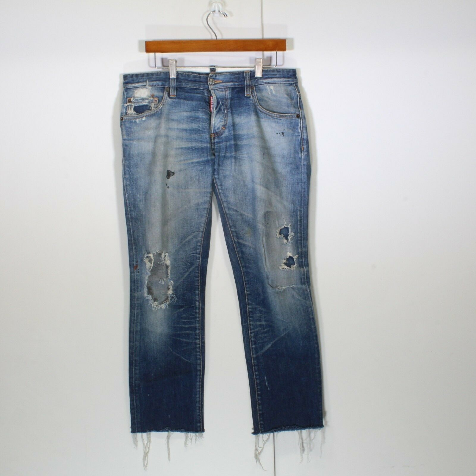 Dsquared2 Destroyed Beach Bum Mens Jeans Made In  Size 32