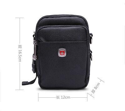 Nylon Travel Sport Men Fanny Pack SwissGear Large Waist Chest Shoulder Bag Black