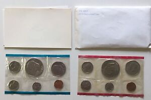USA-1975-Uncirculated-Mint-Set-Philadelphia-Denver-Umschlag-Bicentennial-1c-1