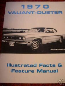 PLYMOUTH 1970 Valiant Duster Owner/'s Manual 70